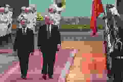 Toàn cảnh lễ đón Tổng thống Trump tại Phủ Chủ tịch
