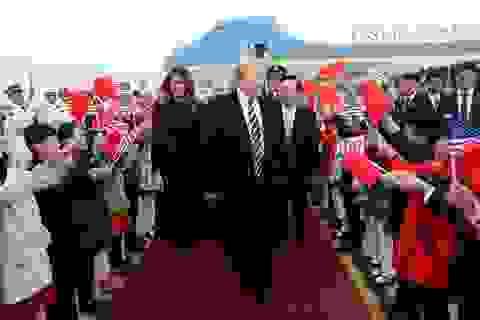 Tấm thảm đỏ đặc biệt Trung Quốc dùng để đón Tổng thống Trump