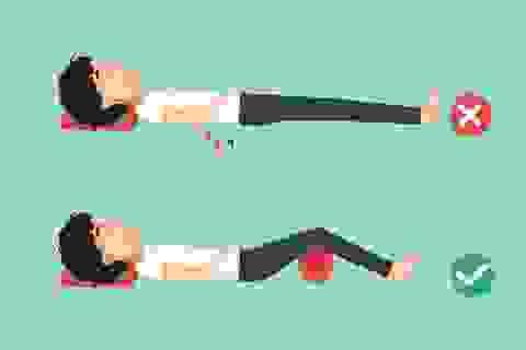 Tư thế ngủ dễ chịu nhất cho người đau cổ, vai, lưng, chân
