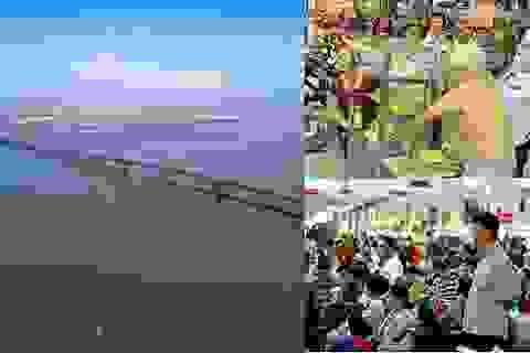 Khánh thành cầu vượt biển dài nhất Việt Nam và cụ 77 tuổi giành lại xe cá viên