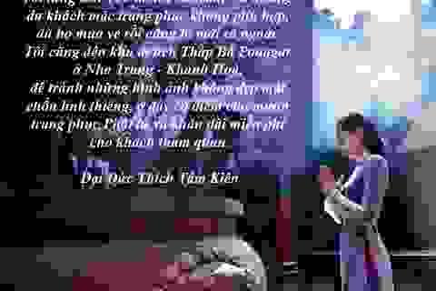 """""""Nóng"""" văn hóa ăn mặc nơi đền chùa và văn hóa ứng xử nơi lễ hội"""