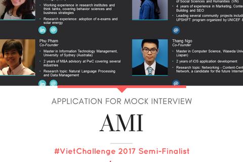 Phần mềm luyện kỹ năng phỏng vấn lọt vòng Bán kết VietChallenge