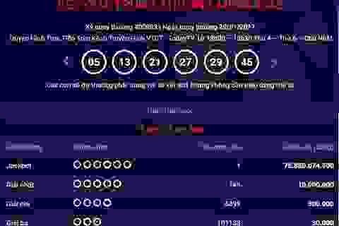 Chủ nhân thứ 13 giải Jackpot trúng hơn 75 tỷ đồng ngày mùng 2 tết