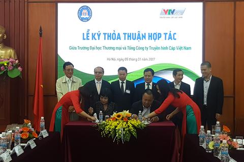 VTVcab ký thoả thuận hợp tác chiến lược với Trường Đại học Thương mại