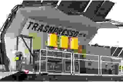 Nhà máy tái chế di động biến rác thành đá lát