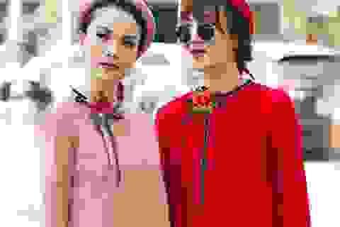 Yến Trang, Yến Nhi diện áo dài cách tân đón xuân