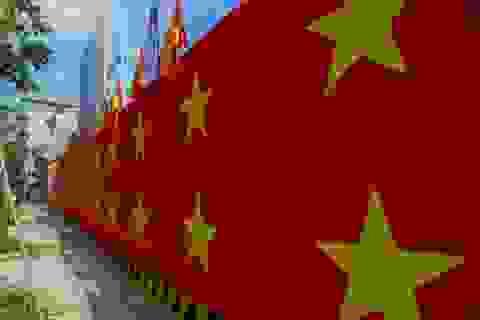 Nhiều tuyến phố Hà Nội nhuộm đỏ màu cờ Tổ quốc cổ vũ U23 Việt Nam