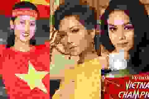 Hoa hậu H'hen Niê cùng dàn người mẫu tự tin vào chiến thắng của U23 Việt Nam