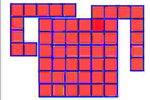 """Toán tương tác: """"Đau đầu"""" ghép chữ L thành hình vuông đặc"""