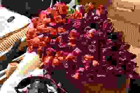 Chưa tới lễ 20/10, hoa hồng tại chợ Quảng Bá đã tăng vài giá