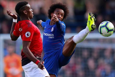 Những khoảnh khắc từ trận cầu chia điểm giữa Man Utd và Chelsea