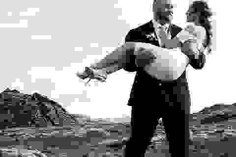 """Nam diễn viên """"trái núi"""" cao 2m05 đã kết hôn với bạn gái cao 1m57"""