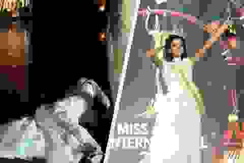 Tân hoa hậu Hòa bình quốc tế ngất xỉu khi đăng quang