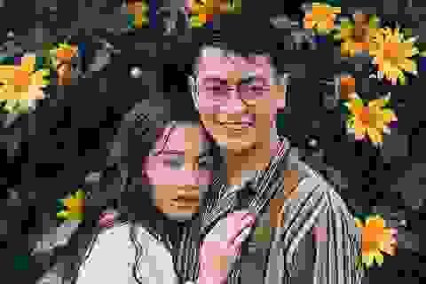 """Ảnh cưới ngọt ngào mùa hoa dã quỳ của cặp đôi có tính cách """"ngược chiều"""""""