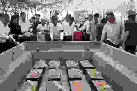 An táng 13 hài cốt liệt sĩ tìm thấy trong rẫy nhà dân