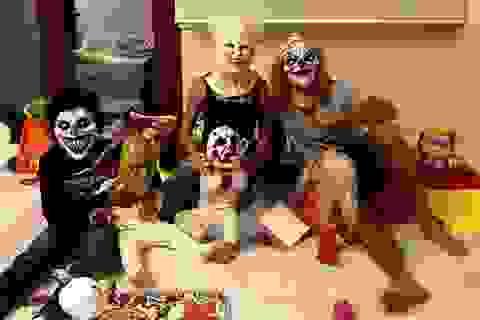 C.Ronaldo khoe ảnh cả nhà hóa trang vui như hội trong ngày Halloween