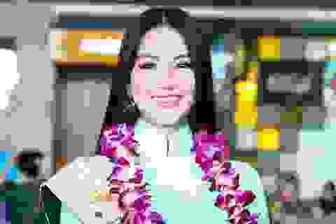 Hoa hậu Trái Đất Phương Khánh rạng rỡ khi về nước