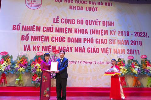 ĐH QGHN bổ nhiệm PGS.TS Nguyễn Thị Quế Anh giữ chức Chủ nhiệm Khoa Luật