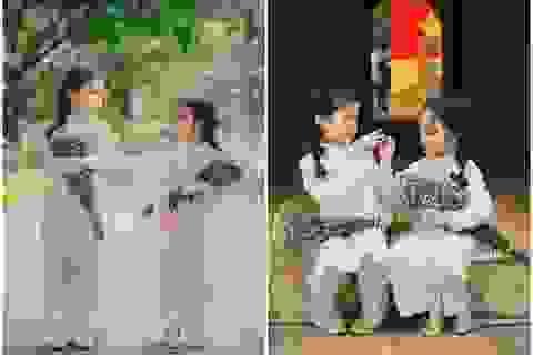 Cặp chị em mẫu giáo xinh như thiên thần