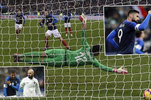 Pháp thắng Uruguay bằng bàn thắng duy nhất từ chấm 11m