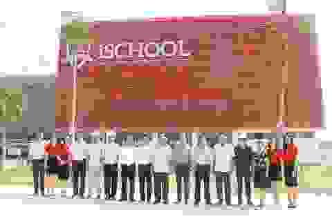 Trường học 250 tỷ đồng, tiêu chuẩn quốc tế sắp hoàn thành