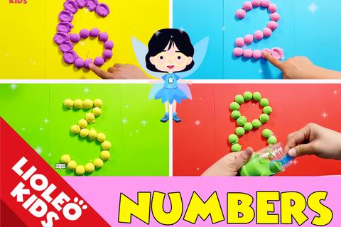 """Tiếng Anh trẻ em: Học số đếm """"thần tốc"""" với trò chơi tạo hình con số"""