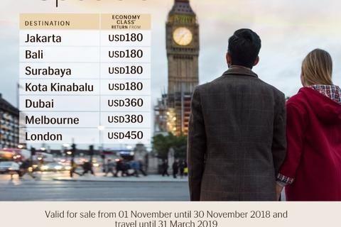 Gía vé ưu đãi dành cho du học sinh đi London của Royal Brunei Airlines