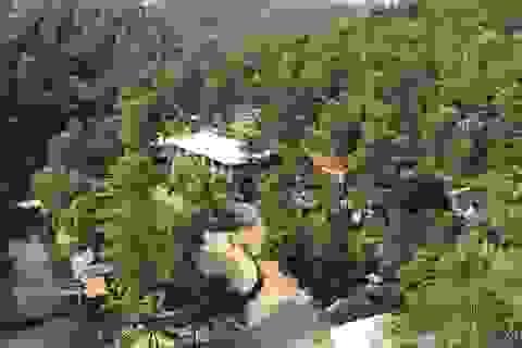 """Khu du lịch trái phép rộng hàng nghìn mét vuông nằm """"chình ình"""" trên đất rừng"""