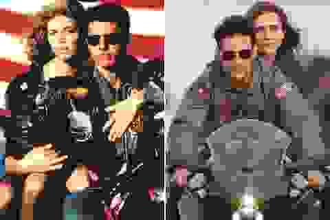32 năm sau, Tom Cruise vẫn phong độ chạy xe phân khối lớn chở người đẹp