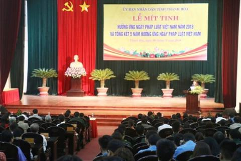 """Thanh Hóa phê bình nhiều lãnh đạo """"quên"""" ngày Pháp luật Việt Nam"""
