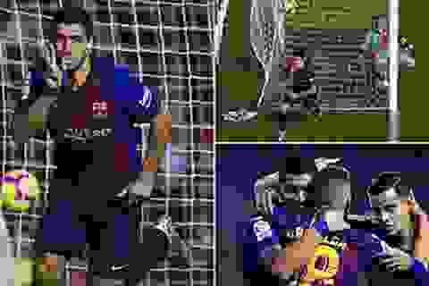Luis Suarez rực sáng, Barcelona giành 3 điểm đầy nghẹt thở