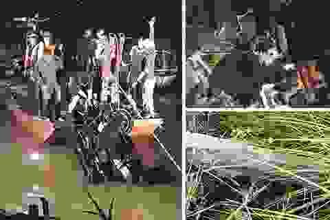 """Công trình không phép """"băm nát"""" Đền Hùng và xe Mercedes rơi xuống sông Hồng"""