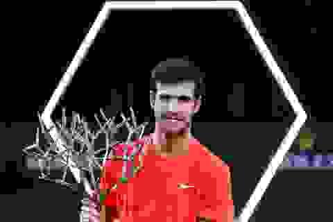 Đánh bại Djokovic, Khachanov bất ngờ vô địch Paris Masters