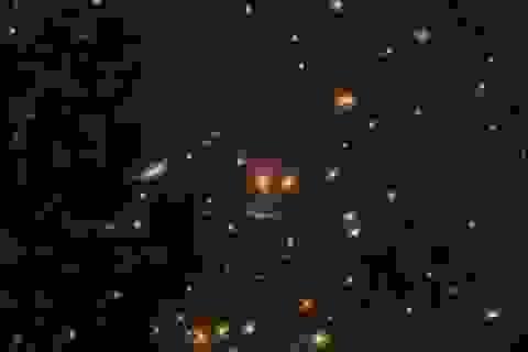 """Kính viễn vọng Hubble phát hiện """"bộ mặt cười ma quái"""" giữa vũ trụ"""