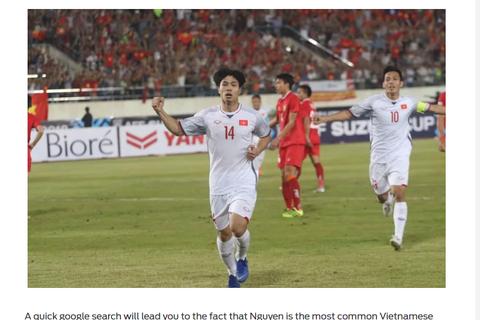 Báo nước ngoài khen ngợi ba chàng trai họ Nguyễn của đội tuyển Việt Nam
