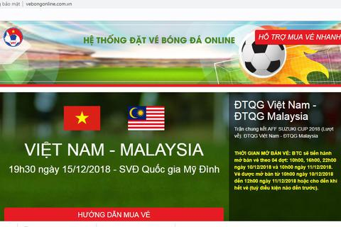 VFF mở bán vé online, người hâm mộ cẩn trọng với website bán vé giả