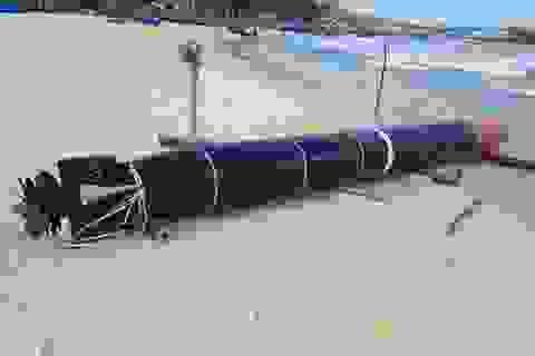 """Vật giống ngư lôi có chữ Trung Quốc là """"thiết bị huấn luyện hải quân"""""""
