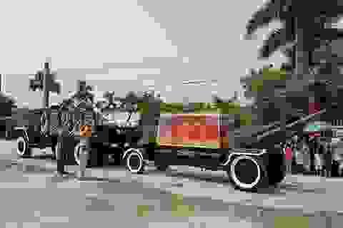 Đoàn xe phục vụ lễ Quốc tang được bố trí như thế nào?