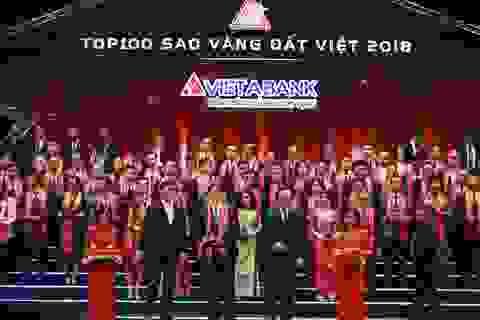 VietABank được vinh danh Top 100 Doanh nghiệp Sao Vàng đất Việt