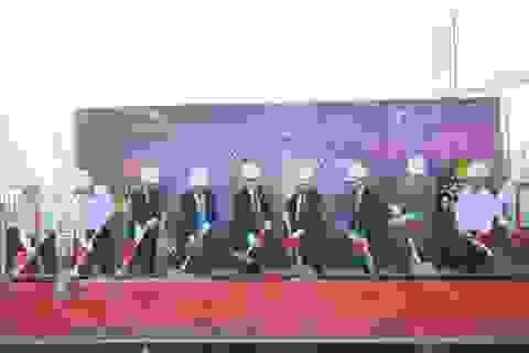 Lễ cất nóc tòa CT4 dự án Iris Garden sau 167 ngày thi công
