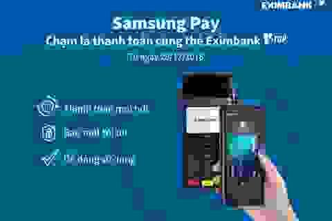 Eximbank triển khai thanh toán bằng ứng dụng Samsung Pay cho thẻ V-Top