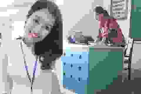 Cô giáo 9x bất ngờ nổi tiếng sau bức ảnh chụp lén của học sinh
