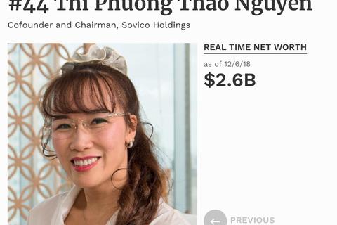 Tỷ phú Phương Thảo tăng quyền lực trên thế giới; Em trai bà Kim Thoa thêm tham vọng