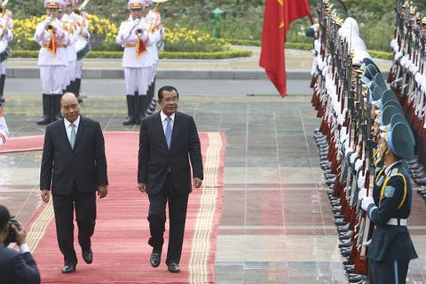 Lễ đón chính thức Thủ tướng Campuchia Hun Sen tại Phủ Chủ tịch