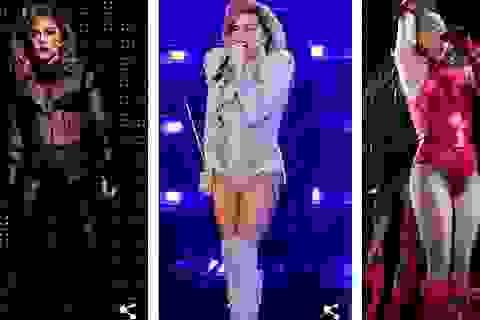Lady Gaga thay hàng chục bộ đồ trong buổi diễn