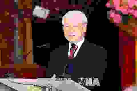 Tổng Bí thư Nguyễn Phú Trọng gặp mặt, chúc Tết cán bộ, công chức, người lao động Văn phòng Trung ương Đảng