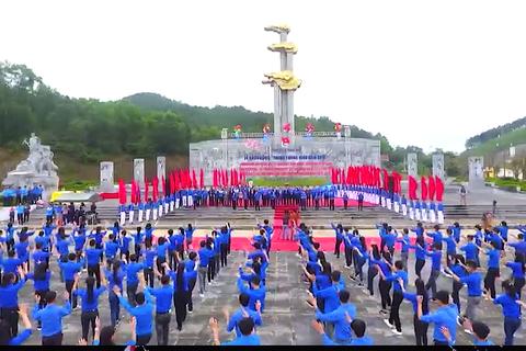 Ấn tượng màn đồng diễn của 3.000 Đoàn viên thanh niên