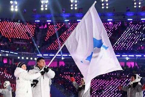 Hai miền Triều Tiên diễu hành chung ở lễ khai mạc Olympic mùa Đông