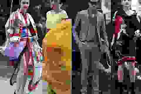 Dàn mẫu đình đám mở màn Tuần lễ Thời trang Việt Nam - Italia