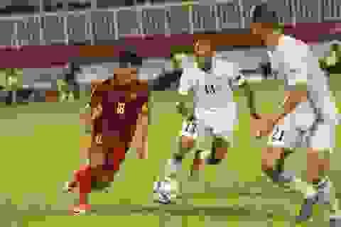 Tiền vệ Thanh Trung mang băng đội trưởng đội tuyển Việt Nam